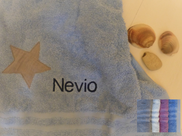 Handtuch (50x100cm) mit Wunschnamen und Motiv